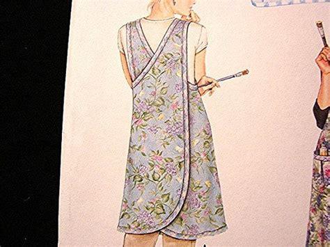pattern art smock simplicity 7481 daisy kingdom wrap apron pattern uncut all