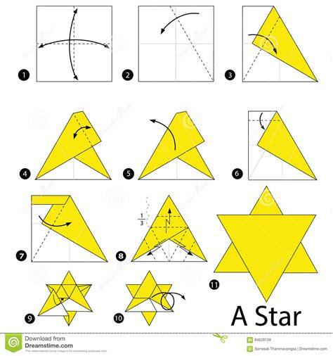 printable origami star instructions step by step instructions how to make origami a star