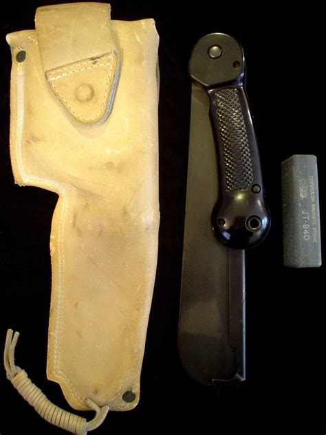 imperial knives value vtg us ww2 imperial folding survival machete antique