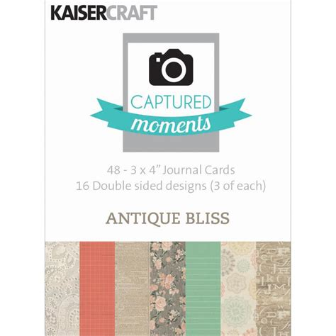 Bliss Gift Card Amount - kaiser captured moments 3 quot x4 quot double sided cards 48 pack antique bliss