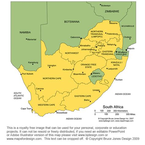 south africa map provinces and capitals map of south africa provinces and capital cities