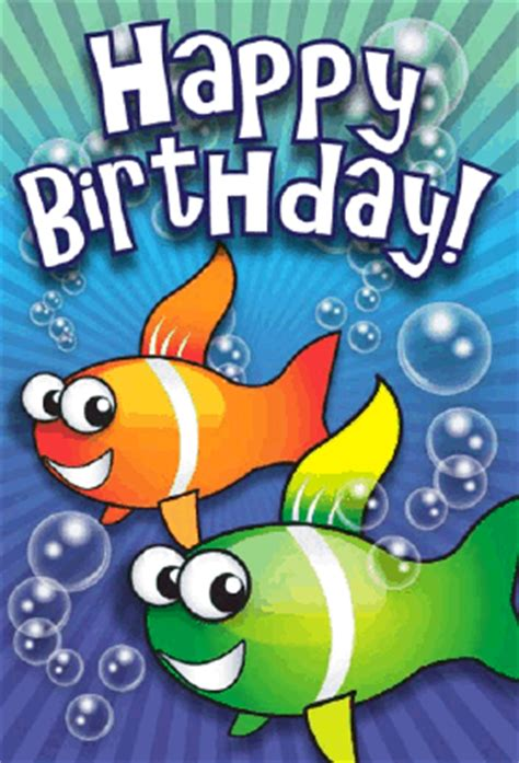 printable birthday cards fishing clown fish birthday card