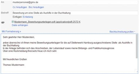 Bewerbung Email Titel Bewerbung Per Email Images Frompo