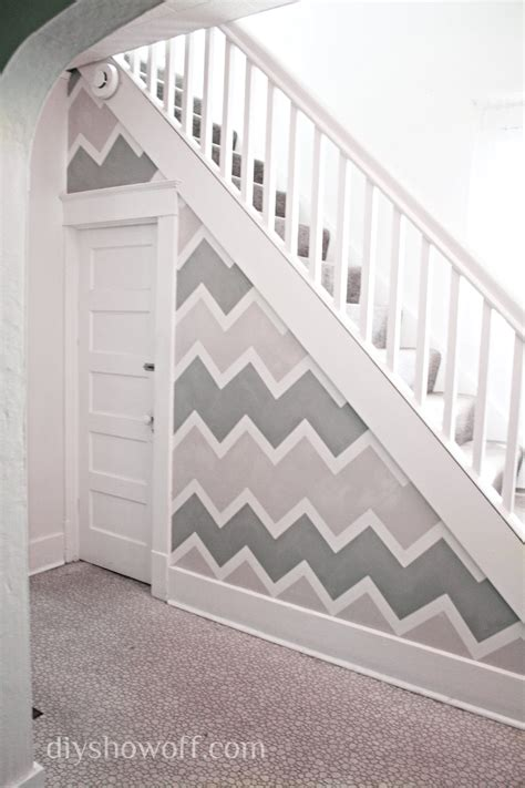 19 simple accent wall paint concept photos homes painting a funky entryway wall design using frogtapediy