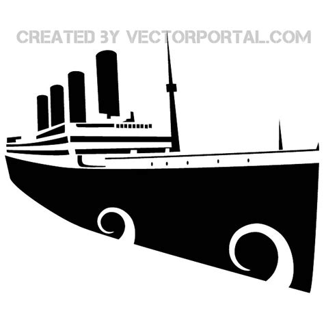 eps clipart titanic vector image at vectorportal