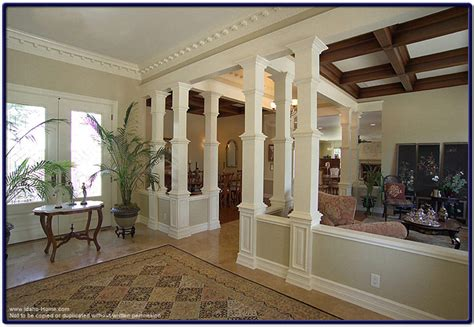 interior home columns wood pillars enhancing the interior of your home