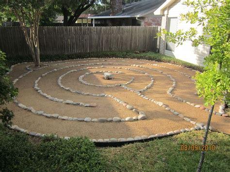 backyard labyrinth new home will