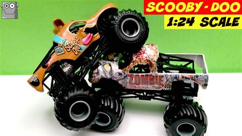 monster jam 1 24 scale scooby doo 1 24 scale monster jam truck zombie youtube