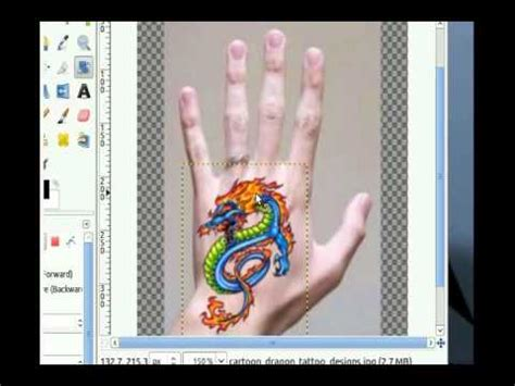 add tattoo to photo online gimp add a tattoo to a photo youtube