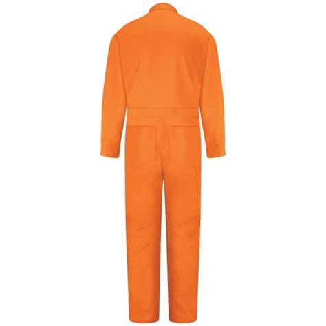 Wearpack 100 Cotton 100 Coverall Cotton Orange cc14or orange 100 cotton coverall concealed snap front