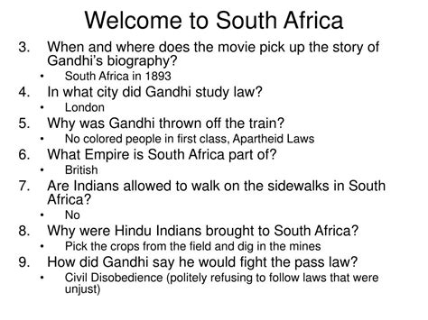 gandhi biography questions ppt answers to movie questions gandhi powerpoint