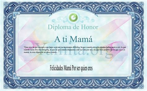 diplomas cristianos dia de la madre para imprimir diploma de honor para mam 225 separadores cristianos