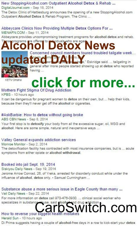 What Daily Detox Looks Like Alcoholism by 25 Best Ideas About Detox On Healthy