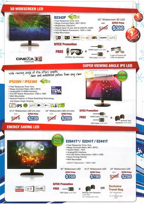 Monitor Lg M2341a lg monitors d2342p led ips226v ips236v e2041t e2241t e2441t sitex 2011 price list brochure