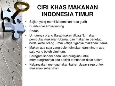 pola makanan indonesia timur