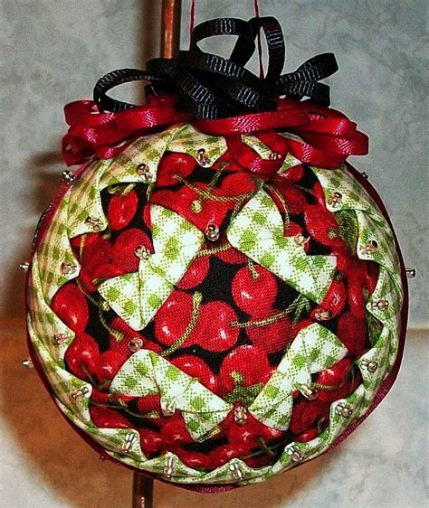 fabric covered styrofoam ball ornaments 305 best images about folded fabric on