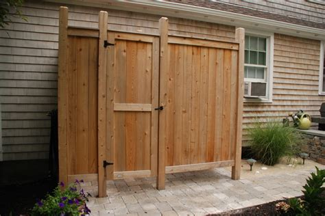 outdoor cedar shower deluxe cedar outdoor shower style patio new