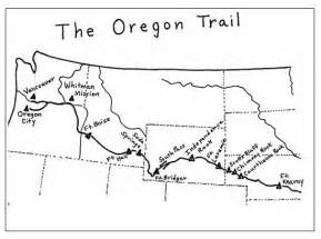 The Oregon Trail Map by Oregon Trail Map Printable Oregon Trail Learn