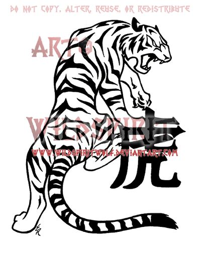 chinese zodiac tiger tattoo designs zodiac tiger by wildspiritwolf on deviantart