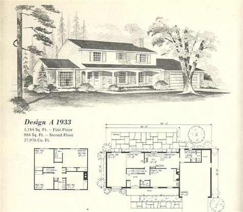 Old Farmhouse Floor Plans vintage house plans 1933 antique alter ego