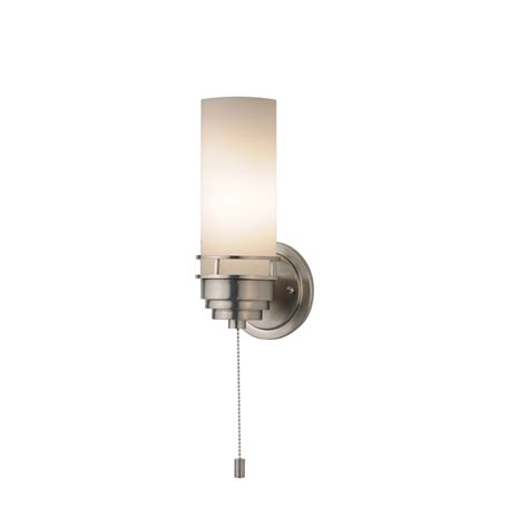 contemporary single light sconce with pull chain switch