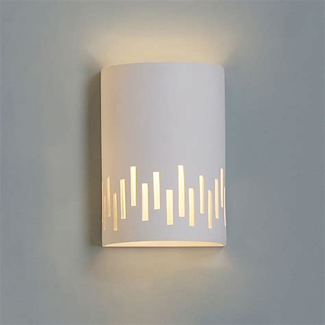 pattern wall sconce 9 quot cylinder ceramic sconce w contemporary cut out pattern