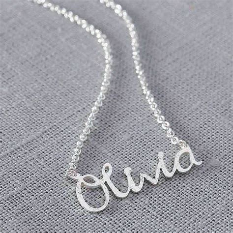 Handmade Personalised Jewellery - personalised handmade silver name necklace by jemima