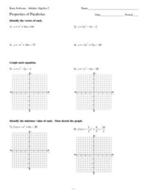 properties of conic sections parabolas worksheet worksheets releaseboard free