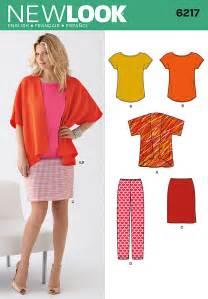 new look 6217 misses jacket tee skirt and pants