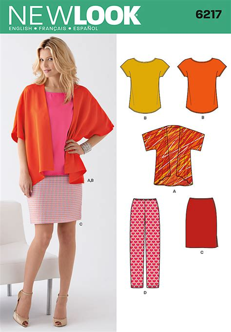 pattern lock new style 6217 new look pattern misses kimono style jacket and tee