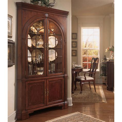 drew cherry grove china cabinet drew cherry grove corner china cabinet china