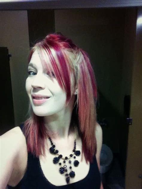 hairstyles blonde with red streaks blonde hair red streaks hair obsession pinterest