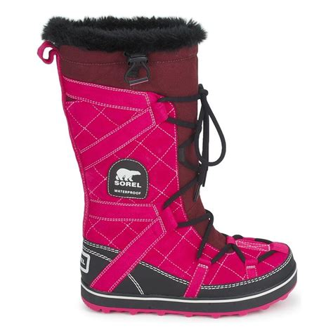 pink winter boots snow boots sorel glacy explorer pink fuchsia need