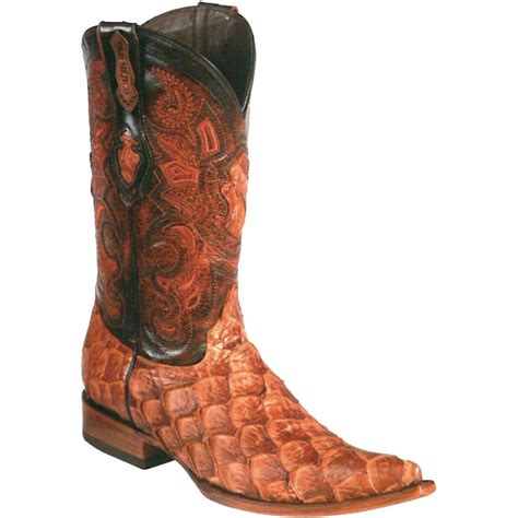 fish boots cognac pirarucu fish boots also knows as arapaima boots