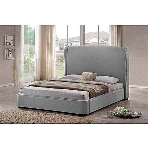 walmart king headboards baxton studio linen king modern bed with upholstered headboard gray walmart