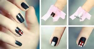 how to make gift box nail art step by step diy