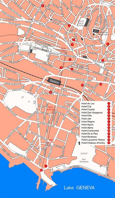lausanne map switzerland map lausanne