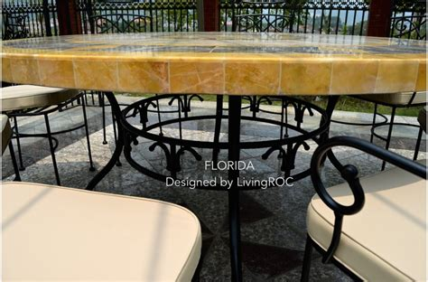 Marble Top Patio Table 49 Quot Outdoor Patio Garden Table Mosaic Marble Florida