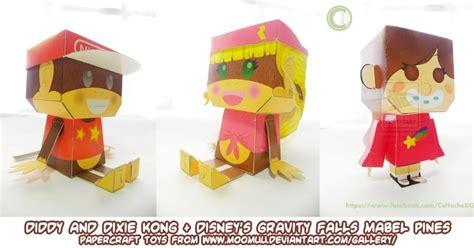 Kong Papercraft - ninjatoes papercraft weblog diddy and dixie kong and