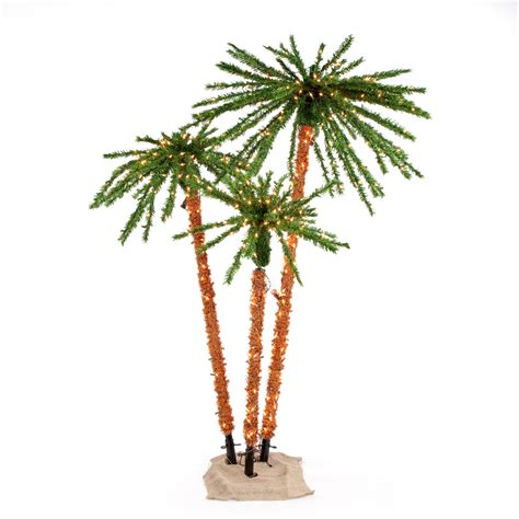 pre lit full palm tree set by sterling tree company
