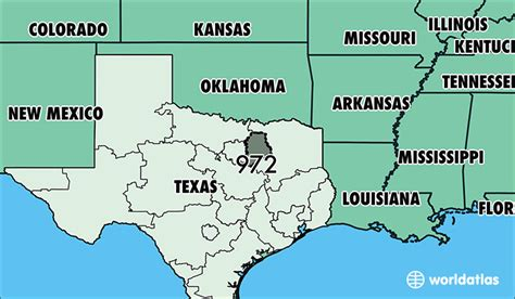 texas area code map map of texas and surrounding states my