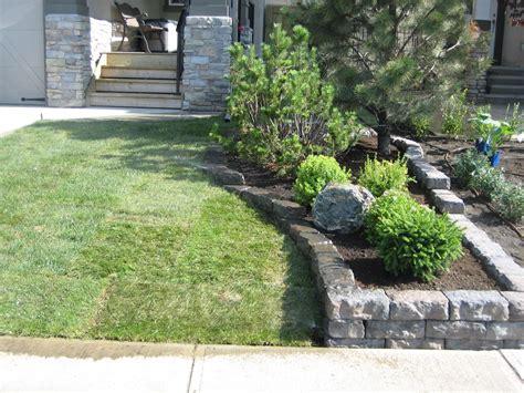 Home Driveway Design Ideas natural stone flower bed walling morgan k landscapes