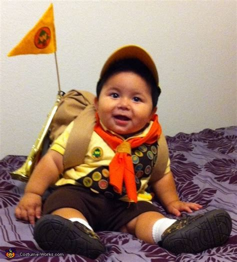 film up russell up scout russell baby costume