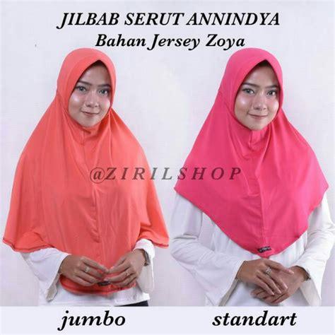Jilbab Serut Standart Jersey Zoya serut anindya bhn jersey zoya jilbab jokowi instan