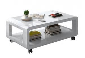 soldes salon table basse blanche comforium