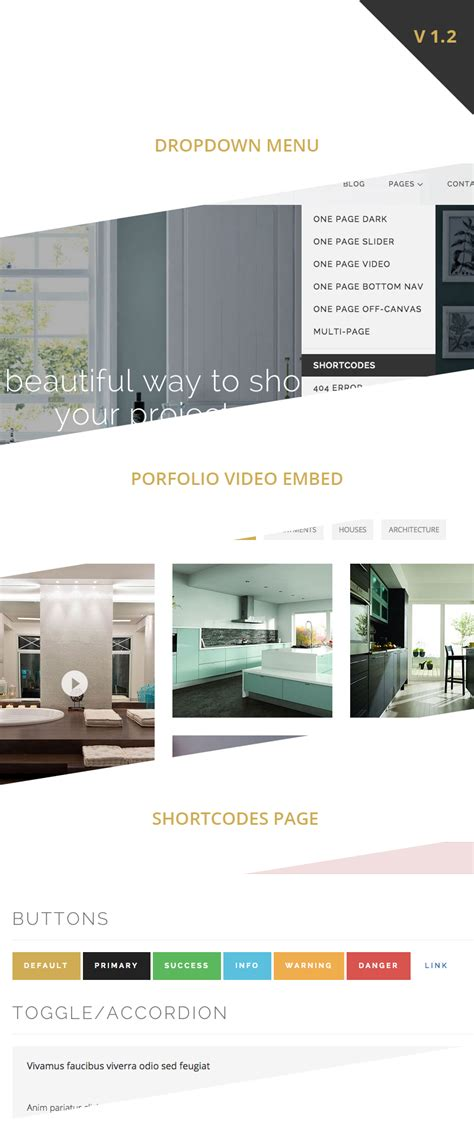 themeforest interior design site templates larx interior design studio template