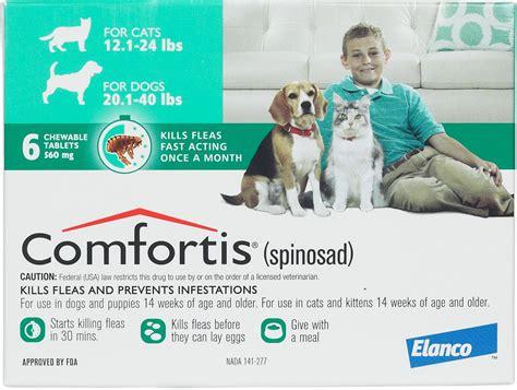 comfortis for dogs 5 10 lbs comfortis flea treament dogs cats elanco animal health safe pharmacy flea tick rx