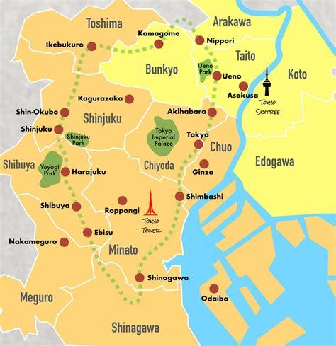 central map central tokyo map map of central tokyo kantō japan