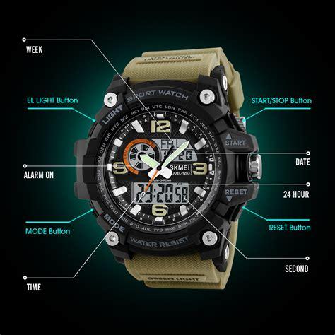 Skmei Jam Tangan Analog Digital skmei jam tangan digital analog pria 1283 black