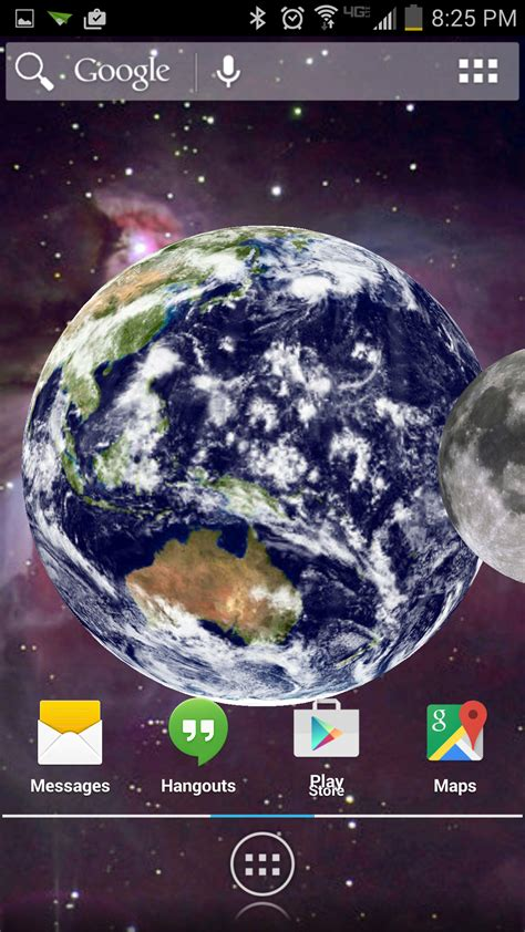 live wallpaper earth rotation amazon com rotating earth live wallpaper appstore for